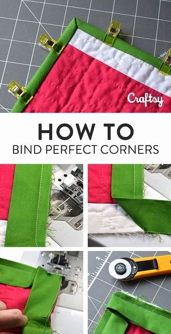 Terrific Absolutely Free Quilting techniques Style 6 Easy Steps to Bind Quilts From Start to Finish! Quilting For Beginners, Sewing Projects For Beginners, Quilting Tips, Quilting Tutorials, Sewing Tutorials, Sewing Crafts, Sewing Tips, Sewing Hacks, Easy Hand Quilting