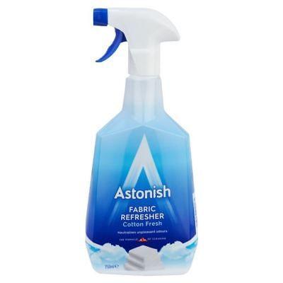 Astonish Fabric Refresher Freshener Deodoriser Cotton Fresh 750ml Cleaning Fabric Refresher Cleaning Safe Cleaning Products