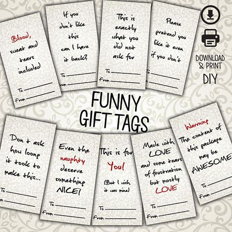 Gift Tags Funny Gift Tags Christmas Tags Elegant Tags