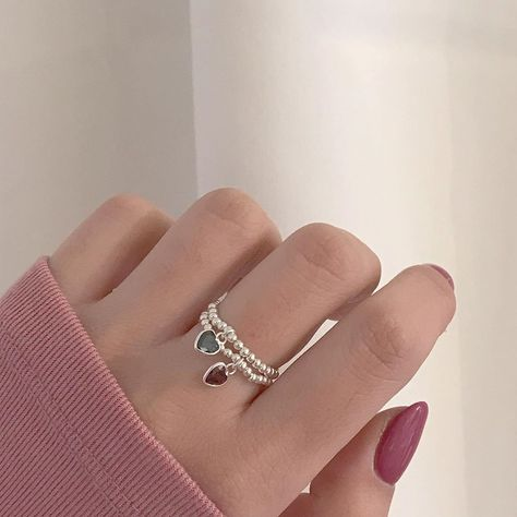 Cute Jewelry, Diy Jewelry, Jewelry Accessories, Jewelry Making, Bead Jewellery, Beaded Jewelry, Beaded Rings, Beaded Bracelets, Armband Diy