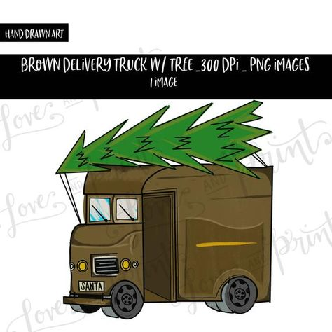 Brown Delivery Truck Png Delivery Truck Sublimation Design