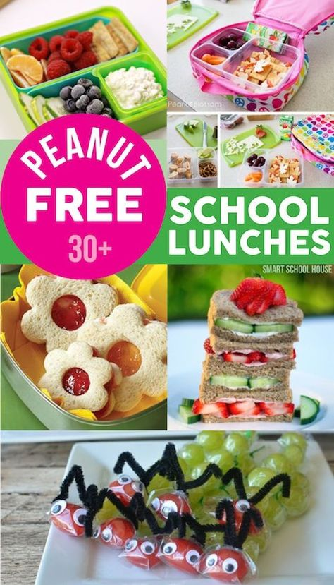 Because of prevalent peanut allergies, some schools no longer allow any children to bring lunches with peanut butter to school. If your school is one of them, try these fun peanut-free lunches!