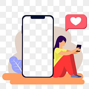 Dispositivo De Redes Sociales Digitales Telefono Gratis Con Mujer Vector Imagen Png Photo Collage Design Banner Template Design Iphone Colors