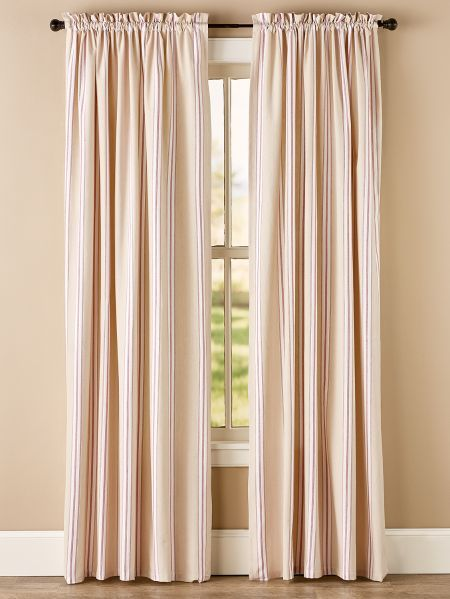 French Ticking Rod Pocket Curtains Rod Pocket Curtains Curtains