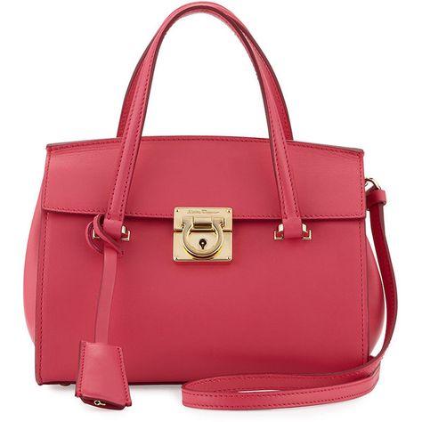 d3b033698bd1 Salvatore Ferragamo Mara Lock Story Mini Satchel Bag (10.630 HRK) ❤ liked  on Polyvore featuring bags