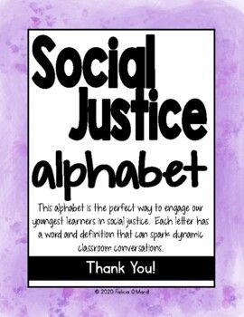 Social Justice Alphabet For Empowering Students And Inclusive Teaching Social Justice Teaching Empowerment