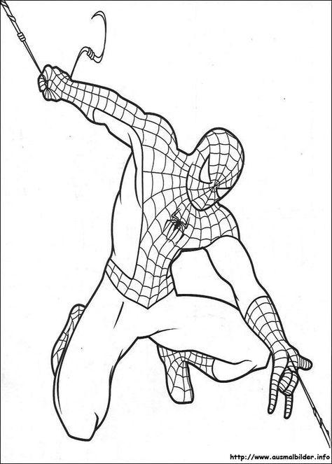 Ausmalbilder Spiderman Kostenlos 01 Ausmalbilder Pinterest