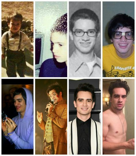 Brendon Urie through the years. (Also the picture of him gazing lovingly at the Capri sun ) #WhatIsAPanicAttack