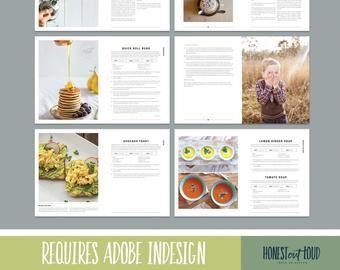 Optavia Discover Cookbook Recipe Template For Adobe Indesign Instant Etsy Cookbook Recipe Template For Ado Recipe Template Cookbook Template Food Printables