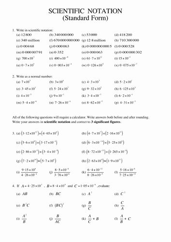 50 Scientific Notation Worksheet With Answers In 2020 Scientific Notation Scientific Notation Worksheet