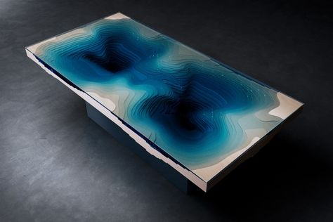 Stare Into The Abyss While Dining Dining Furniture Ideas And Tables - Incredible layered glass table mimics oceans depths