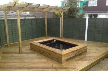 bassin jardin rectangulaire terrasse | BASSIN | Bassin hors sol ...