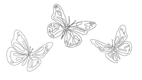 'one line butterflies black' T-Shirt by nikolettt One Line Tattoo, Line Tattoos, Dog Tattoos, Flower Tattoos, Wrist Tattoos, Tatoos, Dream Tattoos, Future Tattoos, Tattoos For Guys
