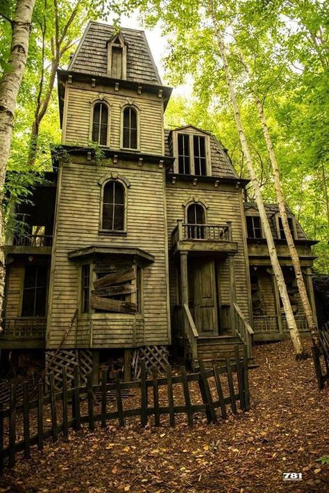 House architecture old abandoned buildings 27 Ideas Old Abandoned Buildings, Abandoned Castles, Abandoned Mansions, Old Buildings, Abandoned Places, Creepy Houses, Spooky House, Haunted Houses, Ghost House