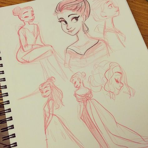 A little sketching while watching the red carpet by snarkies