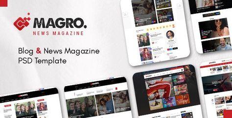 Magro — Blog & News Magazine PSD Template | Stylelib
