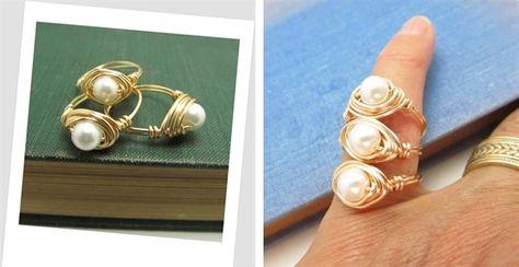 Custom Made Pearl Ring | Jane
