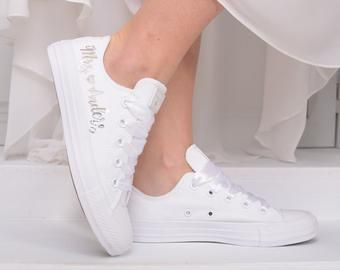 Personalized Wedding Converse sneakers