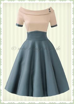 8ad02f808f59 Dolly & Dotty 50s Rockabilly Petticoat Dress – Darlene – Beige Green