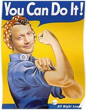Waterboy You Can Do It : waterboy, Rosie, Riveter, Waterboy, Poster, Posters,, Vintage
