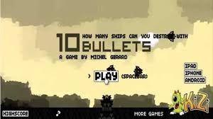 10 Bullets School Games Games 10 Things