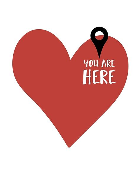 YOU ARE HERE (IN MY HEART) - Love Valentines Day quote