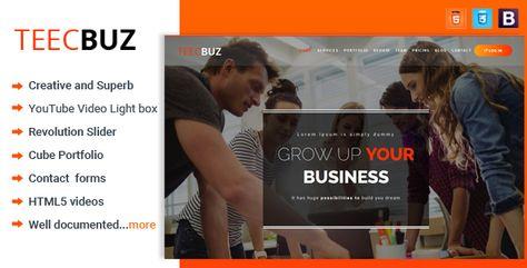 TeecBuz - Business Onepage Multi-Purpose HTML5 Template