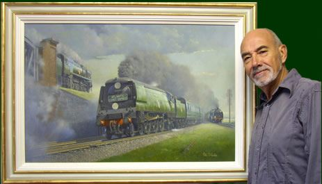 Hawkins Train Painting Art Print 6008 King James II GWR BR Locomotive Philip D