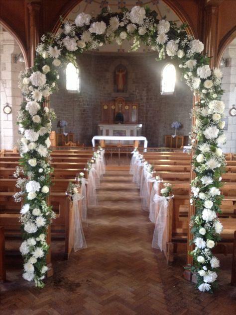 50 Ideas Wedding Flowers Church Altar Wedding Church Decor Church Wedding Decorations Wedding Arch Flowers