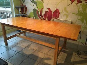 Grande Table De Bois Ikea Table Bois Ikea Grande Table