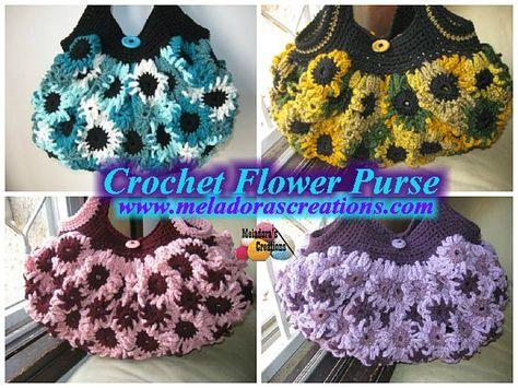 Crochet Flower Purse – Free Crochet Pattern and Video tutorials - Meladora's Creations