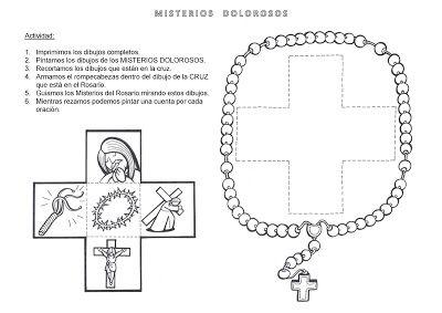 Taller Jugando Me Acerco A Maria Rosario Misionero Rosarios Misterios Del Rosario