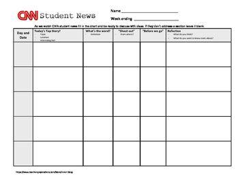 Cnn Student News Week Worksheet