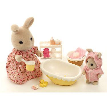 Sylvanian Families Bath Time For Baby Calico Critters Families Sylvanian Families Baby Bath Time
