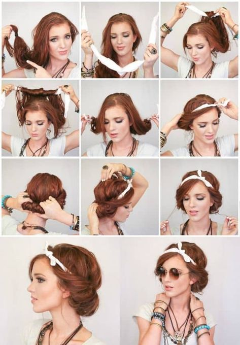Cool Hippie-Frisur with Tuch Cool Hippie-Frisur with Tuch Cool Hippie-Frisur with Tuch The post Cool Hippie-Frisur with Tuch appeared first on 2019 FRİSUREN FRAUEN. Cool Hippie-Frisur with Tuch Hipster Hairstyles, Scarf Hairstyles, Pretty Hairstyles, Simple Hairstyles, Hairstyles 2016, Wedding Hairstyles, Easy Summer Hairstyles, Wet Hair Hairstyles, Hippie Headband Hairstyles