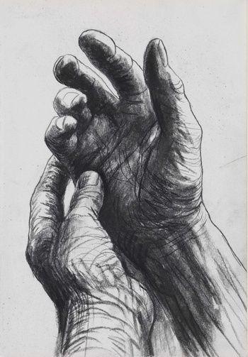 Henry moore, the artist's hands, 1974 art-anatomy 1 & figure drawing ге Life Drawing, Figure Drawing, Drawing Sketches, Painting & Drawing, Art Drawings, Drawings Of Hands, Sketching, Paintings Of Hands, Drawing Ideas