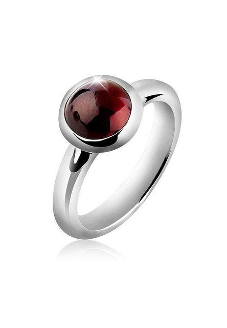 Granat Ring 925 Silber Sterlingsilber Damenring rot Edelstein