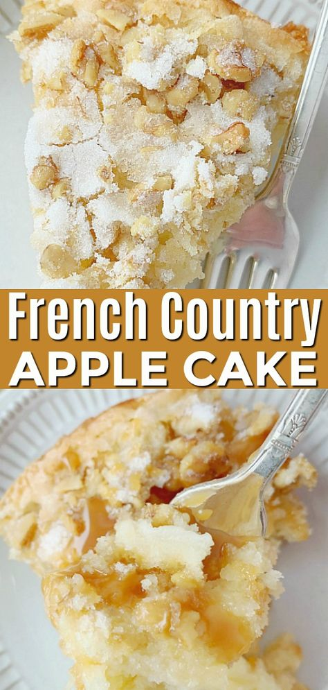 French Country Apple Cake - Foodtastic Mom