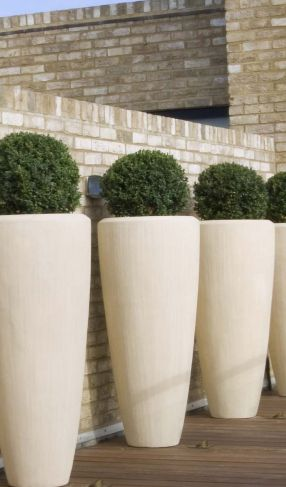 Captivating Box Balls In Lightweight Limestone Effect Tall Modern Planter :softens The  Wall | Container Plantings | Pinterest | Planters, Box And Modern