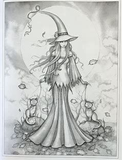 Image Result For Pagan Coloring Pages For Adults Grayscale Coloring Books Witch Coloring Pages Grayscale Coloring