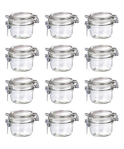 125/ml 12/Pack 4.25/Ounces by Bormioli Rocco Bormioli Rocco Fido Vaso Round Jar