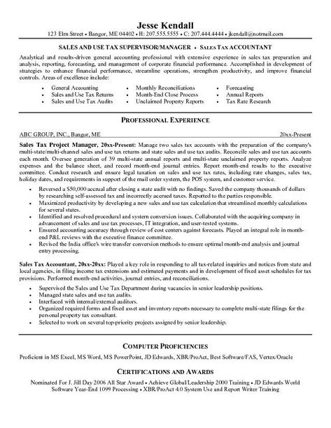 Tax Accountant Resume Sample Click here for a FREE video tutorial - mcroberts security officer sample resume
