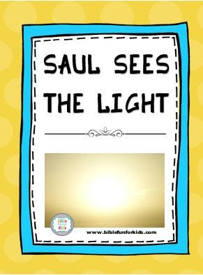 5 Saul Blinded By The Light Preschool Bible Lessons Bible