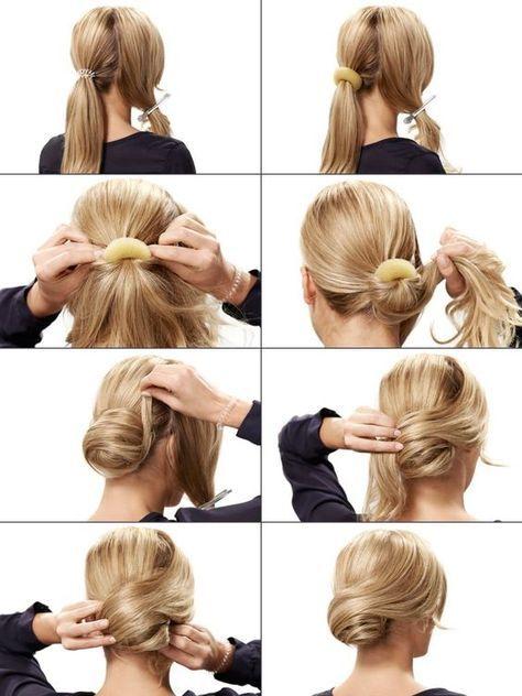 Haare unordentlich hochstecken
