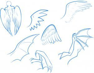 how to draw anime wings draw an anime angel step 3  dibujos