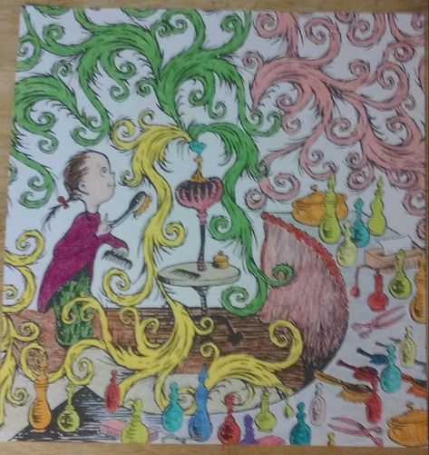 Another from the Dr. Seuss coloring book. Used a variety of ...