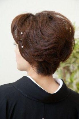 着物ヘアスタイル50代ショート Yahoo 検索 画像 着物 髪型 ショート 留袖 ヘアスタイル 髪型