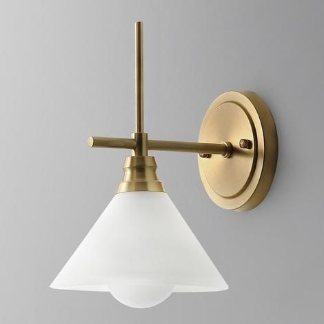 Glass Solid Brass Sconce Wall Lights Bathroom Lights Vanity Lighting Mid Century Sconce In 2020 Bathroom Lighting Wall Lights Wall Sconces