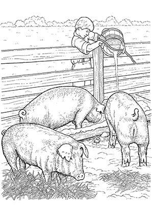 Ausmalbild Schweine Im Stall Zum Kostenlosen Ausdrucken Und Ausmalen Fur Kinder Ausmalbilder M Mandala Malvorlagen Ausmalbilder Tiere Lustige Malvorlagen