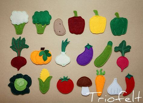 Felt Vegetable Set